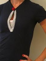 Re-fashioned polo shirt.