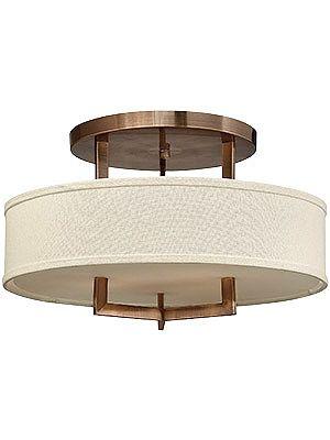 Flush Ceiling Fixtures. Hampton Large Close Ceiling Light With Linen Drum Shade
