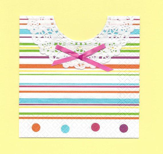 Set of 10  Sweet Polka Dots BABY BIB NAPKINS  by SuriesBoutique, $5.00