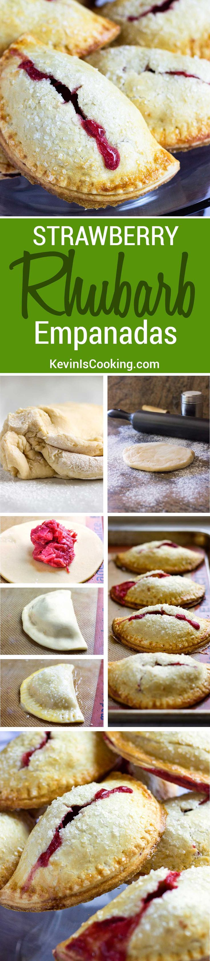 These Rhubarb Baked Empanadas are baked, not fried and the lightly sweet…