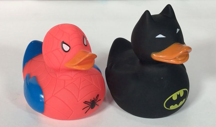 Patitos de Goma Superhéroes 🐥 Juguetes 🐥 Una Mamá Novata #juguetes #spiderman #batman #patitos
