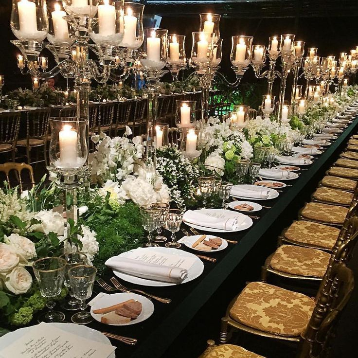 Best 25 luxury wedding decor ideas on pinterest luxury wedding this beautiful candlelit tablescape from the gala launch of tiffanyandcos new rome store would junglespirit Choice Image