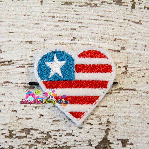 I Love the USA Bobby Pin Buddie Hair by SurprisePartyShop