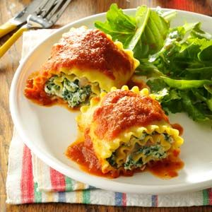 Baked Lasagna Roll Ups...I'd use a hell of a lot more cheese in this :-)