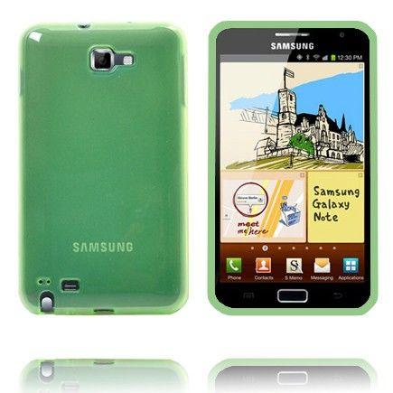 Läpikuultava TPU Muovinen (Vihreä) Samsung Galaxy Note Suojakuori