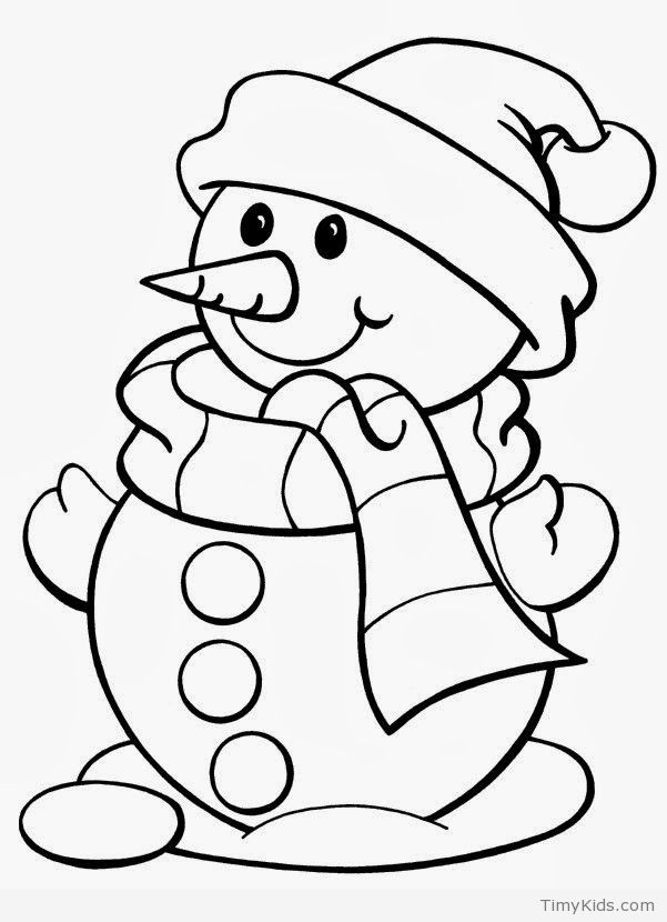 Timykids Snowman Coloring Pages