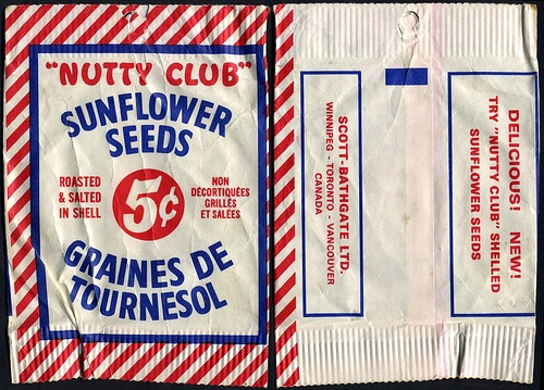 Canada - Nutty Club Sunflower Seeds 5-cent package - 1970's