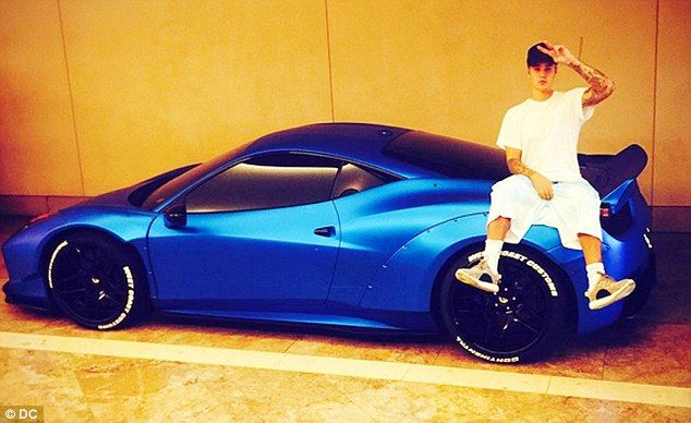 Missing: Justin Bieber apparently forgot where he parked his customized blue Ferrari 458 Italia after a night out in Hollywood and it took three weeks for an assistant to track it down