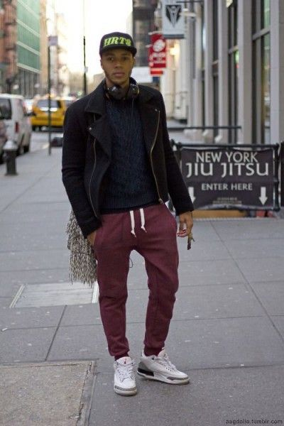 How to Wear Red Joggers