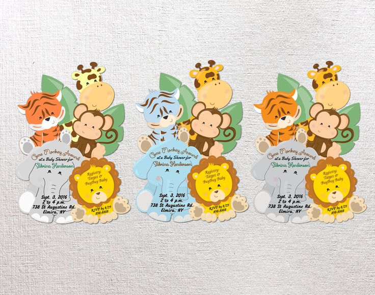 safari baby invitations