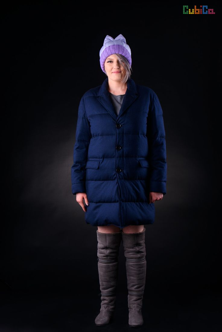 Duvet wool down lightweight long coat CubiCa WOMAN CubiCity collection