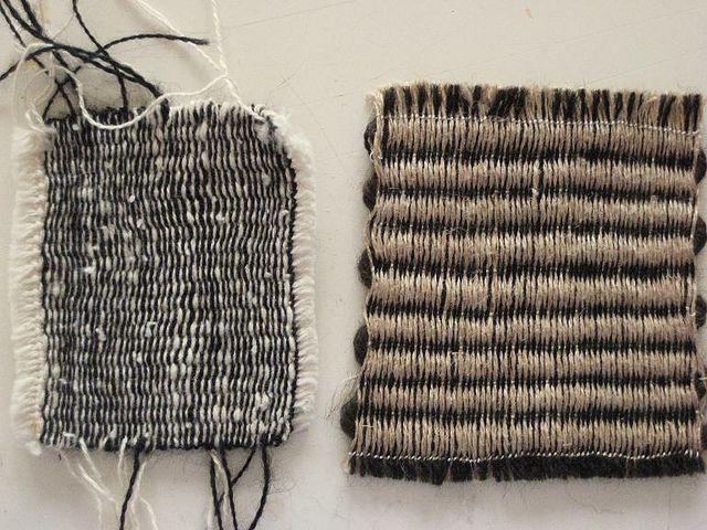 small cardboard weavings
