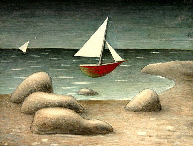 Emil Filla - Plující lodě