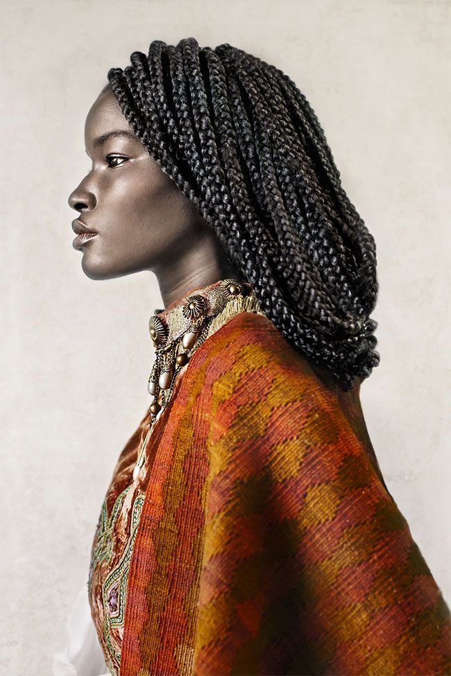 """According to the photographer Dagmar van Weeghel: """"The series was inspired by the experiences of my Zimbabwean husband who moved to Europe nine years ago. As well as a visit to Andalusia- Southern Spain with it's Moorish history.   The portraits show dignity, strength and beauty with the aim to re"""