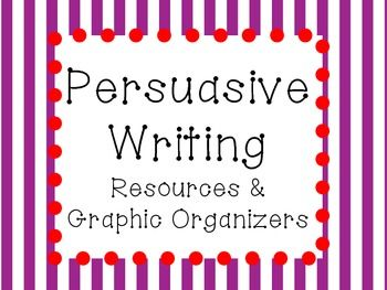 24 pages of useful and creative persuasive writing resources and graphic organizers!Inside you will find:Definition printables: Persuasion, Argument, Fact, OpinionWhat is persuasion? Brainstorming ActivityWhat does persuasion look like/sound like/feel like?
