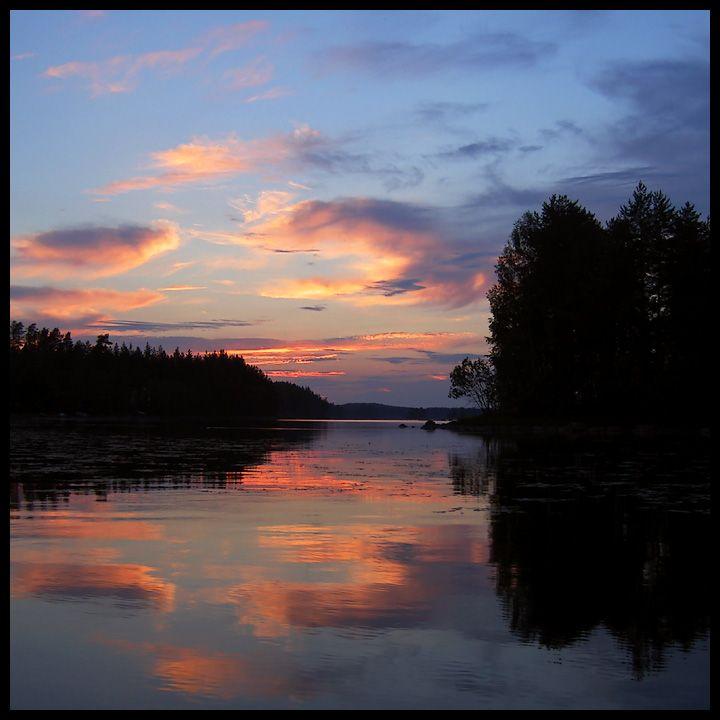 Summer night in Juuka, Eastern Finland