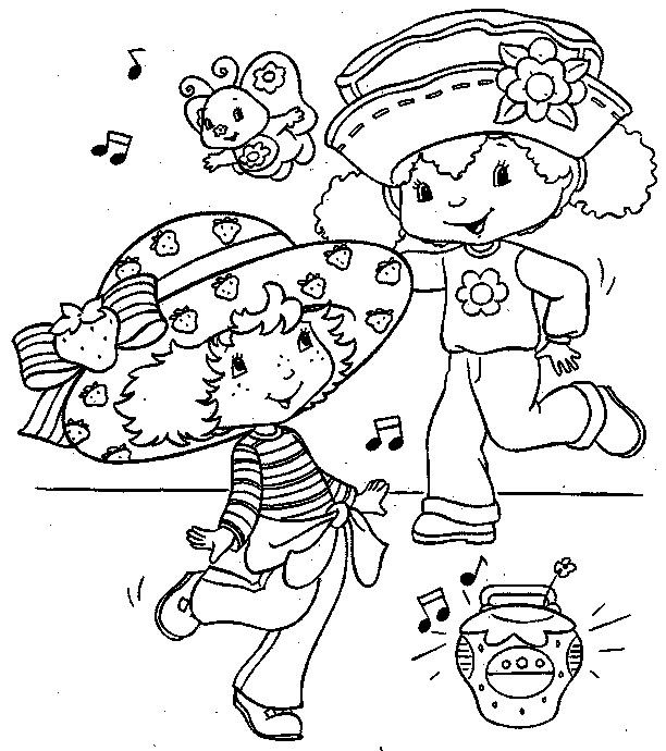 Strawberry Shortcake And Orange Blossom Coloring Page