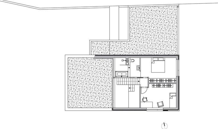 Rodinný dům Lety: půdorys 2. nadzemního podlaží