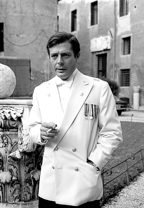Marcello Mastroianni in Venice, 1957.