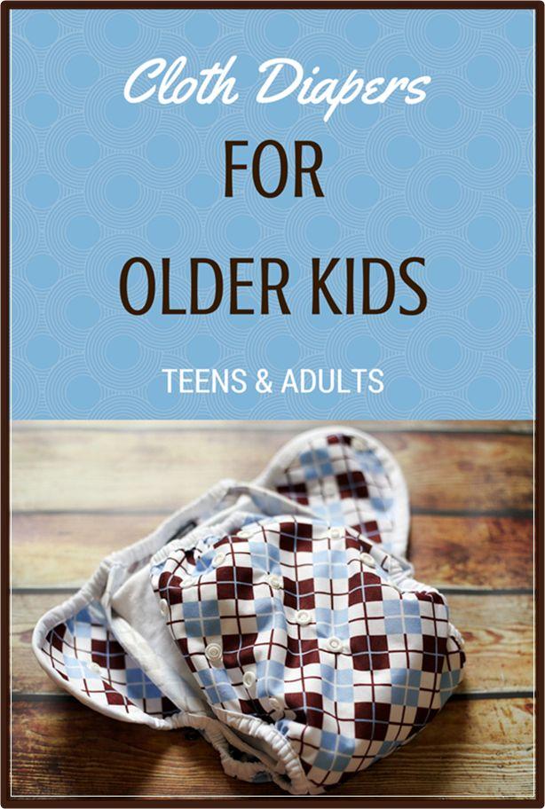 Krpo Plenice za starejše otroke, posebnimi potrebami, Teens-8861