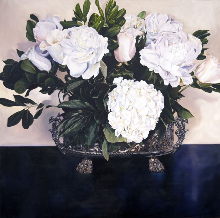 at the entrance  oil on panel  48 in (121.92 cm) x 48 in (121.92cm)