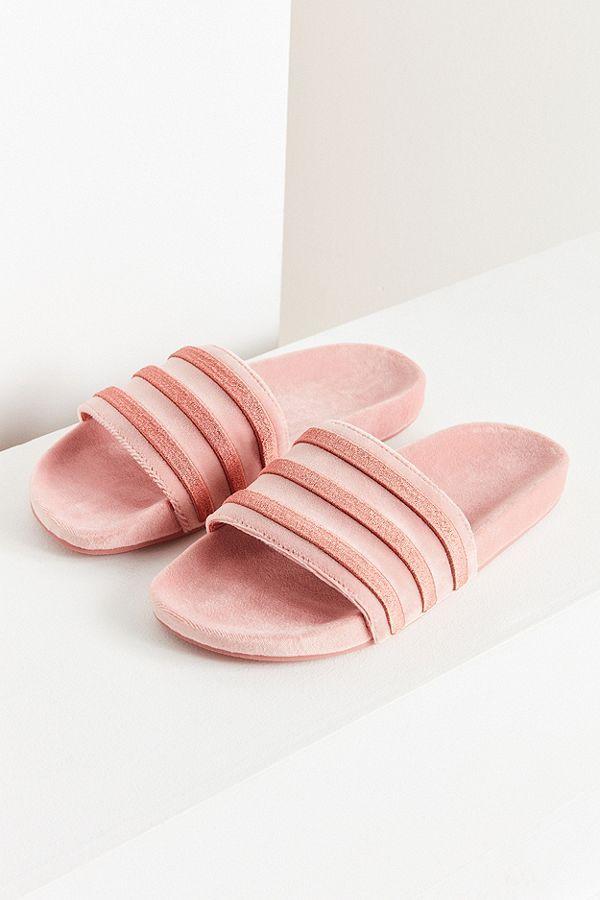 new style a8115 f4fb9 Slide View 1 adidas Originals Adilette Velvet Slide