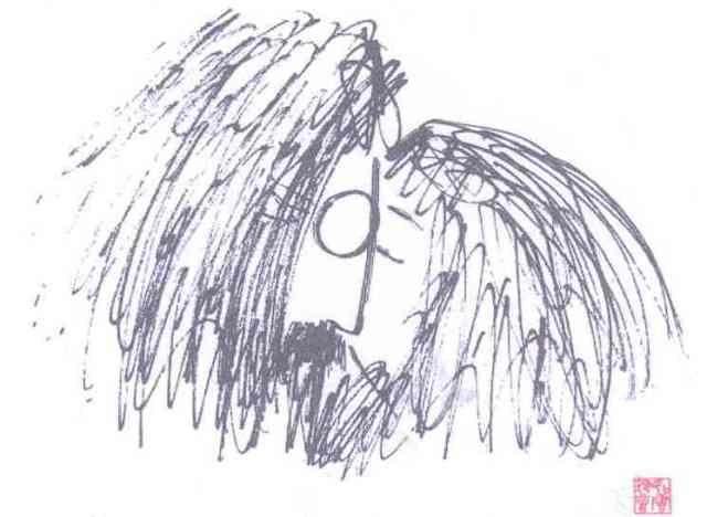 john lennon's drawing. Cover from album : Starting Over :
