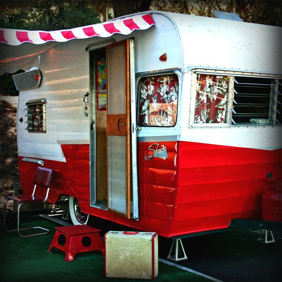 Red White & Shasta Trailer Photography by SailorsRavineStudio, $25.00