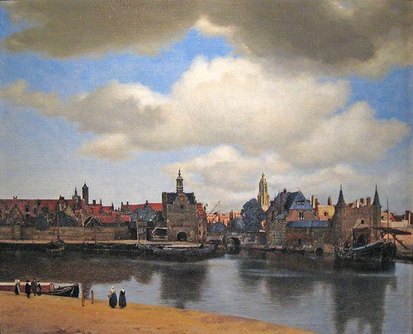 Ein Blick auf Delft, wie Johannes Vermeer ihn um die Mitte des 17. Jahrhunderts in einem Gemälde festhielt (Mauritshuis, Den Haag).  www.kukullus.nl