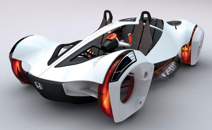 La voiture du futur devra être à l'image des efforts de la société : nonpolluante. Ici, la Honda Airà moteur à air comprimé,présentéeau salon de Los Angeles 2010.©Honda