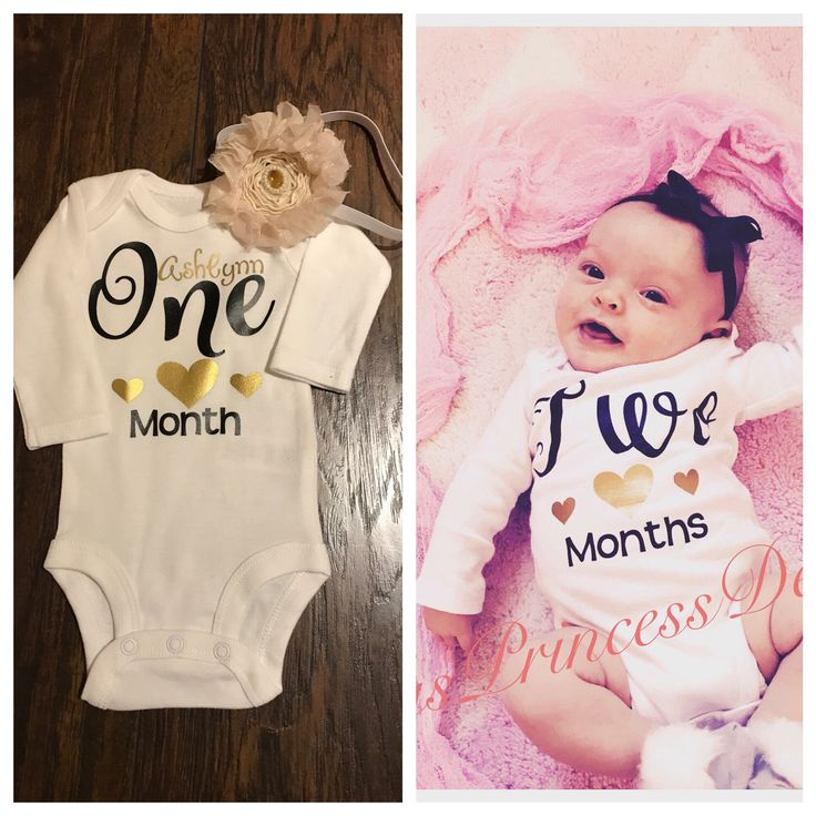 Milestones Baby Onesies Individual Or Set Makes A Great