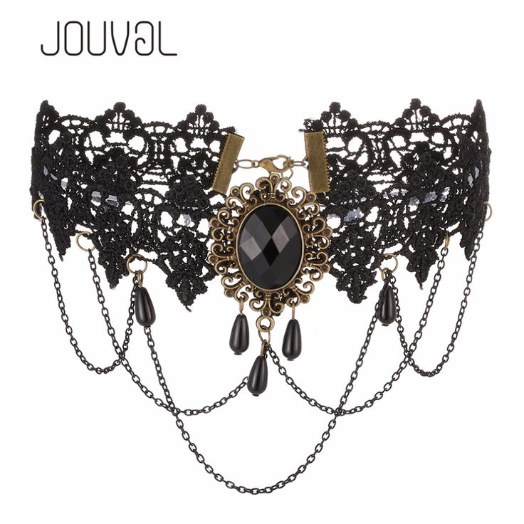 2017 Sexy Gothic Chokers Black Lace Collar Neck Choker Necklace Vintage Victorian Women Chocker Steampunk Jewelry 3.28 SALE
