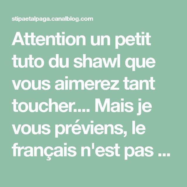 Attention un petit tuto du shawl que vous aimerez tant toucher.... Mais je vous préviens, le français n'est pas ma langue...