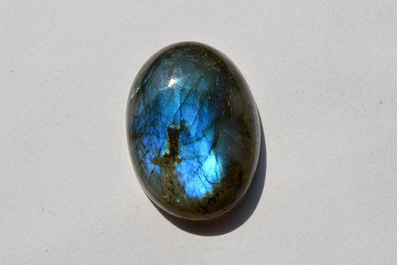 26.5 Cts Natural Blue Fire Labradorite Cabochon Both Side Polished Oval Shape Labradorite Loose Gemstone 24x18x7 MM R06288 by JAIPURARTMART on Etsy