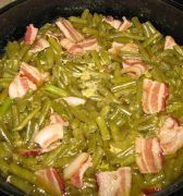 Southern green beans are tender, flavored with bacon or ham hocks, and a must-have side dish on every Southern table.