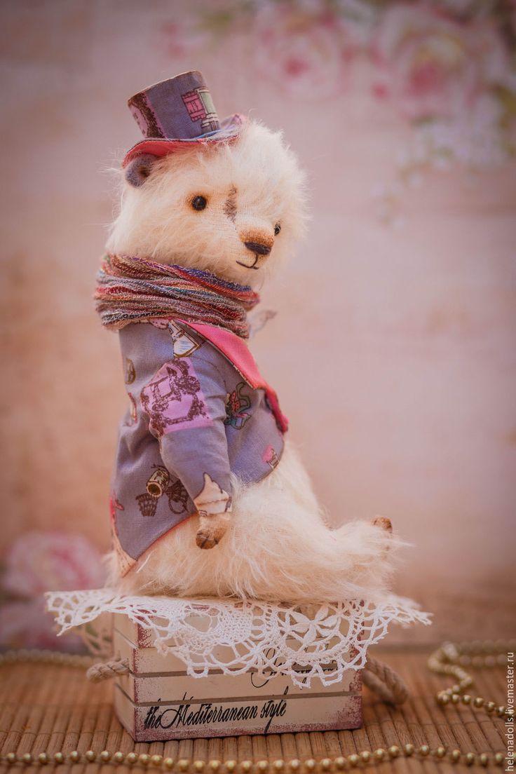 """Купить Angelo из серии """"Amore mio"""" - белый, фиолетовый цвет, мишка тедди"""