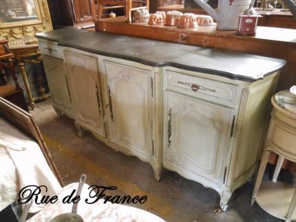 OLD FRENCH ANTIQUE -- PAINTED FINISH BUFFET SIDEBOARD CABINET - 29 Best Antique French Buffet - Sideboard Images On Pinterest