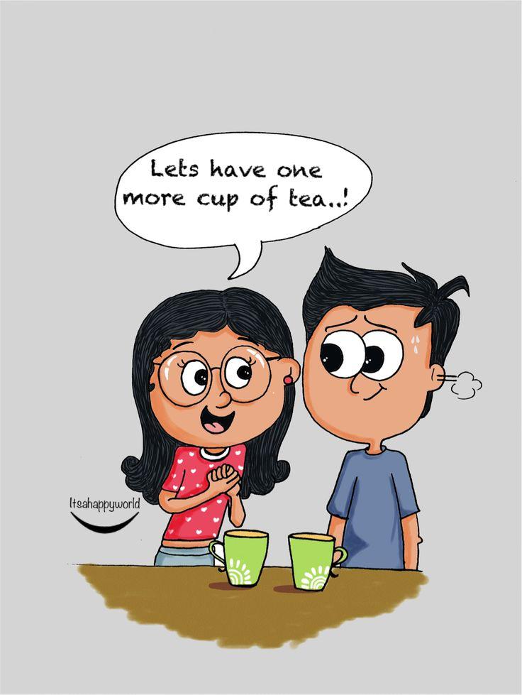 Couple illustrations-Tea love #illustration #doodle #love #art #tea    #quotes #happiness #couples