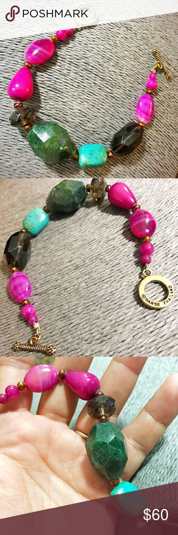 """Barse Genuine Gemstone Chunky Bracelet Excellent conditions. About 8"""". Authentic Barse jewelry piece. High quality. Genuine Gemstones. Barse Jewelry Bracelets"""