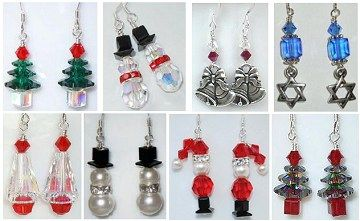 www.BestBuyBeads.com - Lots of earring design ideas for the holidays!