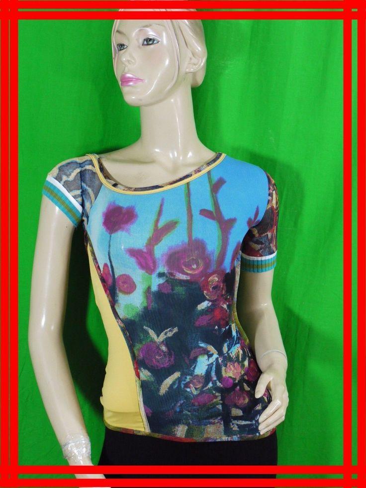 SAVE THE QUEEN Taille S 36 Superbe tee shirt manches courtes T-shirt bleu jaune  | Vêtements, accessoires, Femmes: vêtements, T-shirts | eBay!