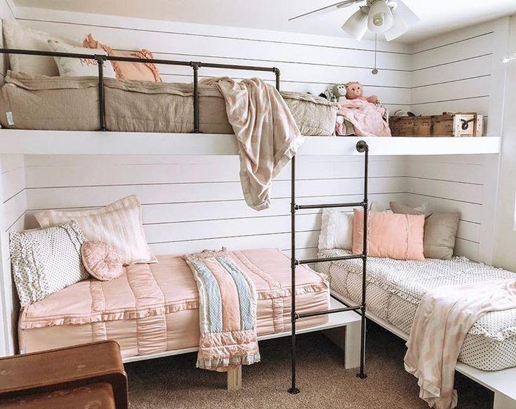 Bunk Beds Triple Bunk Beds Girls Room Farmhouse Bunk Bed