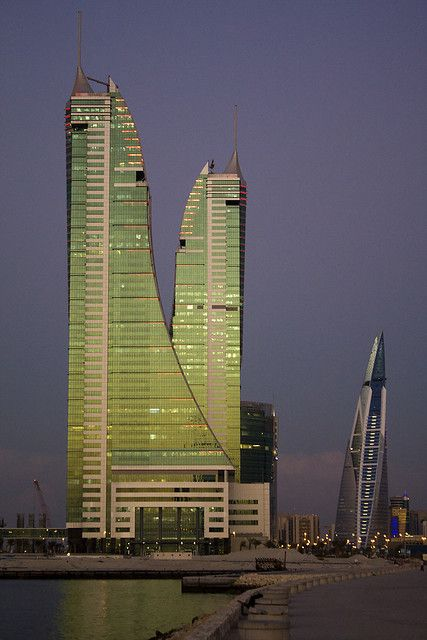 Harbour Towers, Sunset in Manama, Bahrain