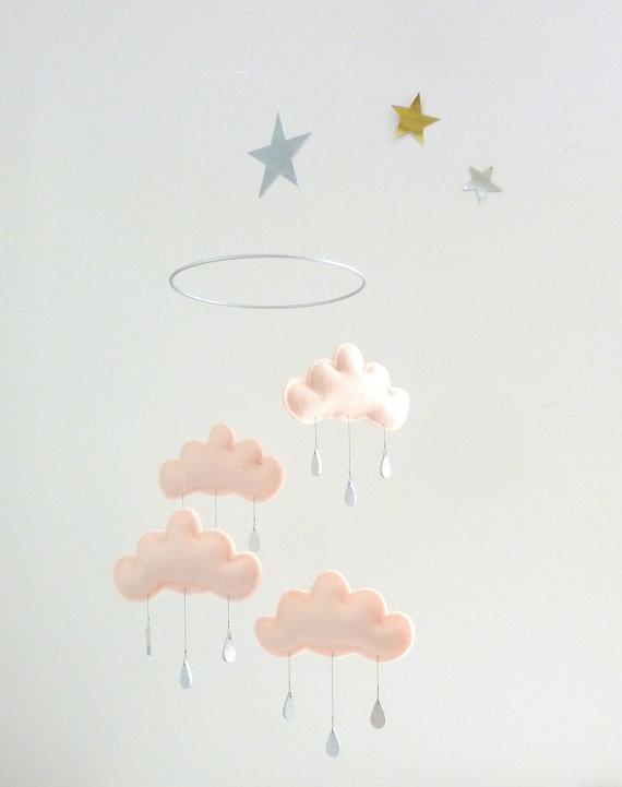 Puffy cute cloud mobile.