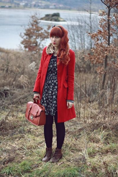 """Ruby Red Primark Coats   """"Great escape lost track of time and space"""" by HoneyBunny   Chictopia"""