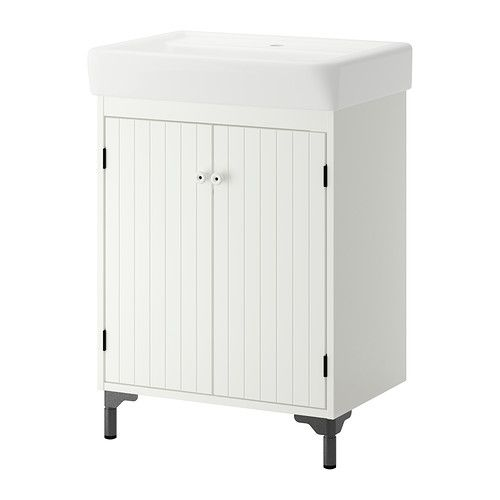 Silver n hamnviken sink cabinet with 2 doors white for Kitchen cabinet washing machine
