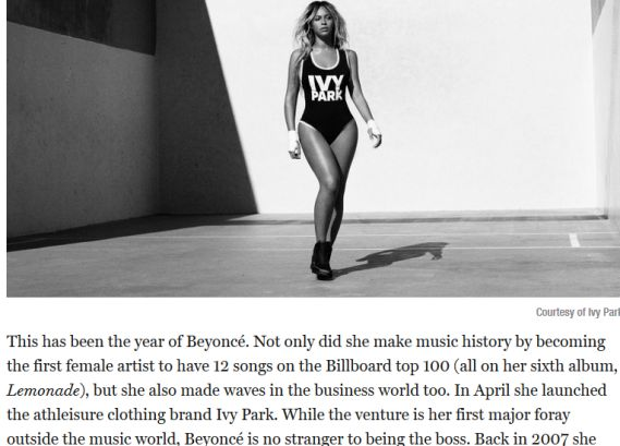 Beyonce is the only celeb to make Fortune 2016 list of Most Powerful Women - http://www.thelivefeeds.com/beyonce-is-the-only-celeb-to-make-fortune-2016-list-of-most-powerful-women/