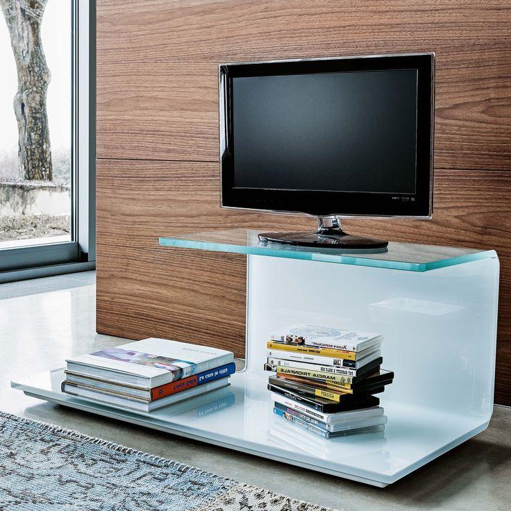 Znalezione obrazy dla zapytania curved glass tv stand