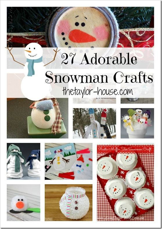 27 Adorable Snowman Craft Ideas (Click Photo)  - - Bookmark Your Local 14 day Weather FREE > www.weathertrends360.com/dashboard No Ads or Apps or Hidden Costs