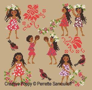 Perrette Samouiloff - Tahiti (cross stitch pattern chart)